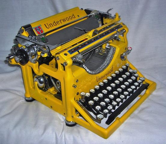 maquina escribir restaurada