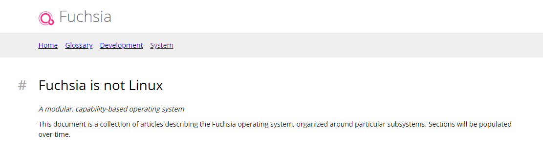 Fuchsia is not Linux